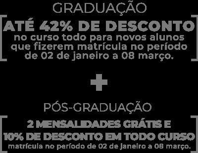 Desconto para Graduacao e Pós-graduação